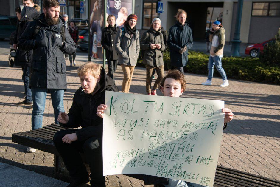 Apie 250 žmonių prie Seimo reikalavo dekriminalizuoti kanapių laikymą
