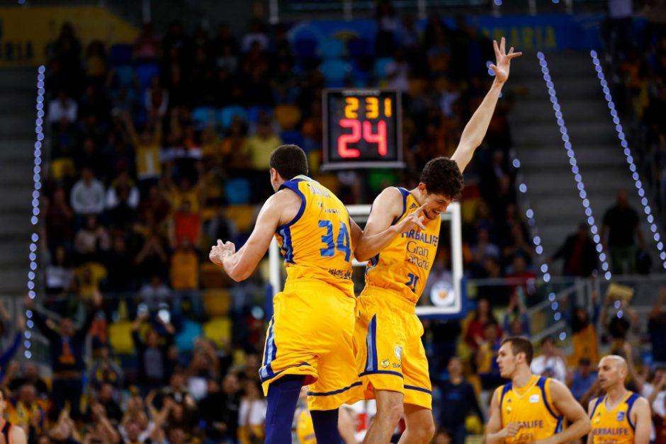 """""""Gran Canaria"""" nutraukė dešimties pralaimėjimų Eurolygoje seriją"""