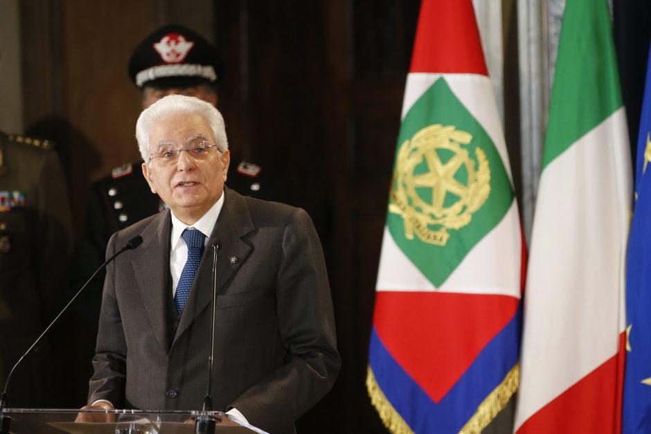 Italijos prezidentas perspėja apie kraštutinio nacionalizmo pavojus