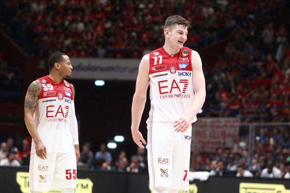 Krepšininko A. Gudaičio indėlis į Milano ekipos pergalę – 10 taškų