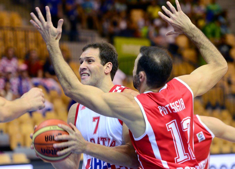 Kroatai po dramatiškos kovos išplėšė pirmąją pergalę