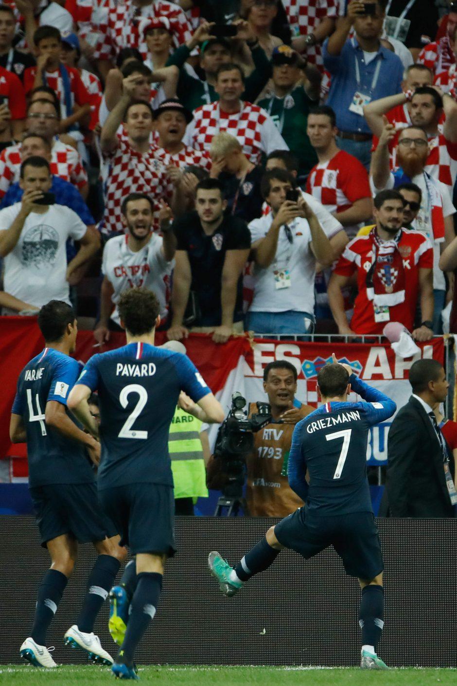Pasaulio futbolo čempionato finalas: Prancūzija – Kroatija