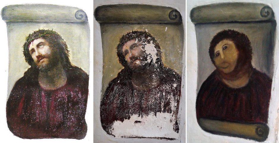 Ispanijos dailininkė uždirbs iš nevykusiai restauruoto Kristaus atvaizdo