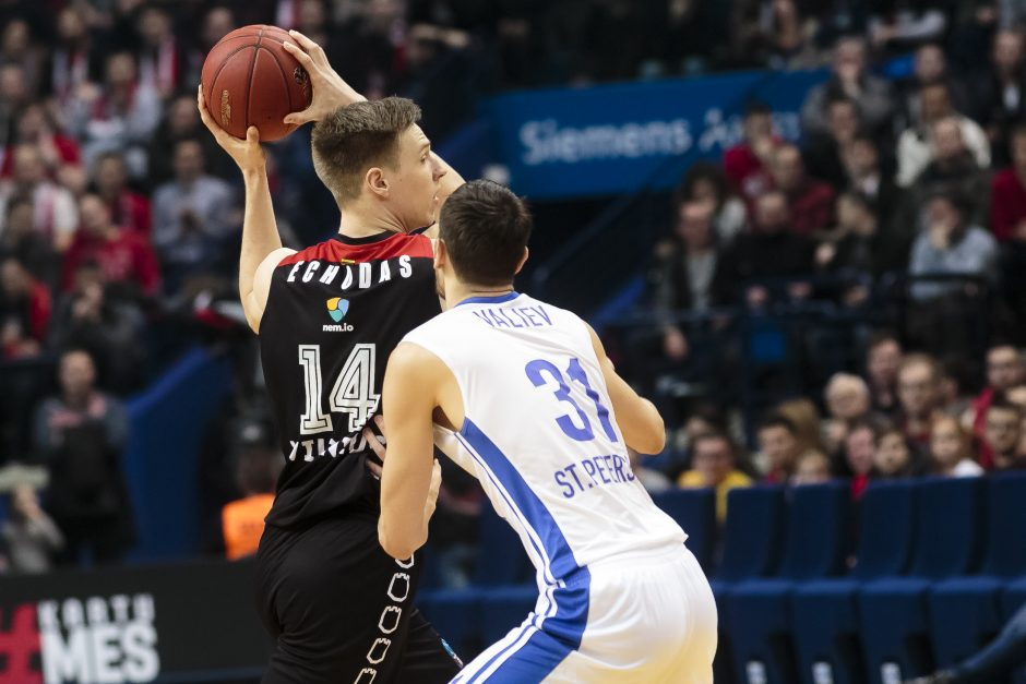 "Europos taurė: ""Lietuvos rytas"" - ""Zenit"" 96:98"