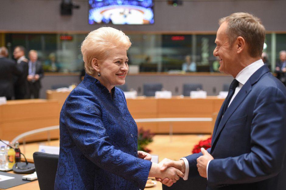 Prezidentė dalyvauja Europos vadovų susitikime