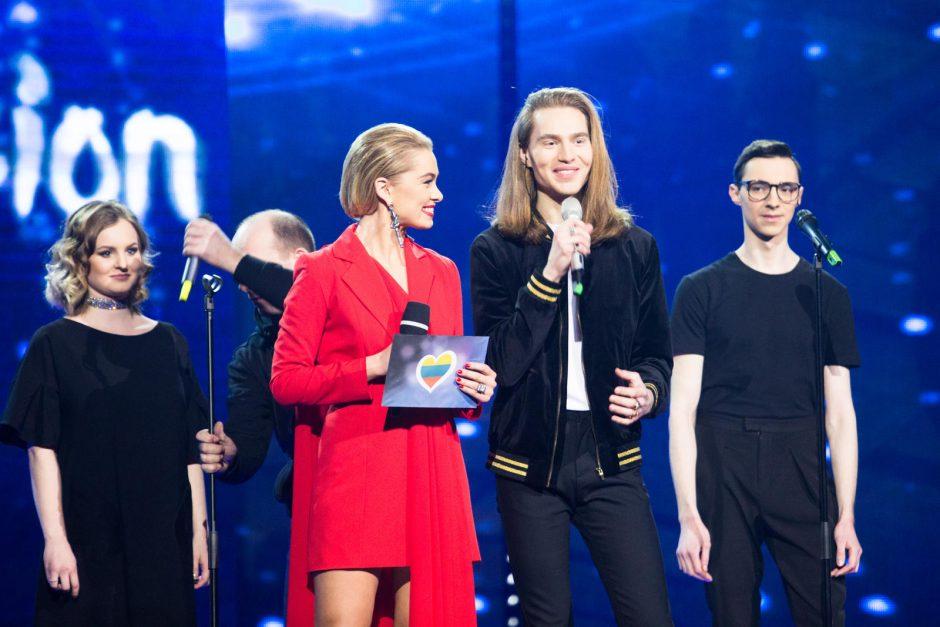 """""""Eurovizijos"""" nacionalinės atrankos filmavimas"""