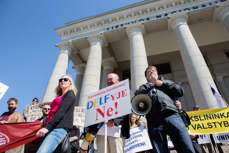 Mitingas dėl universitetų reformos