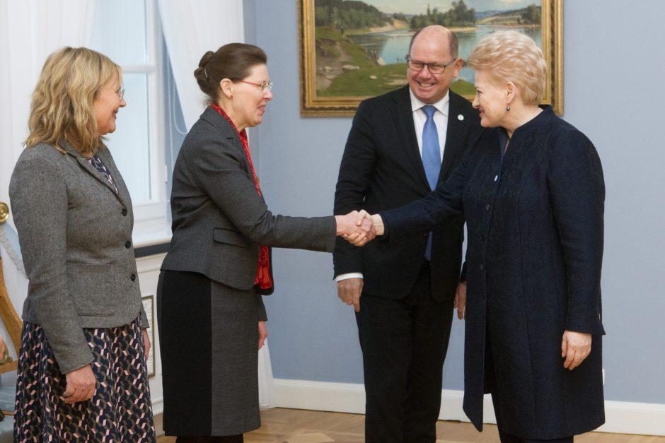 Prezidentūroje – Švedijos parlamento pirmininkas