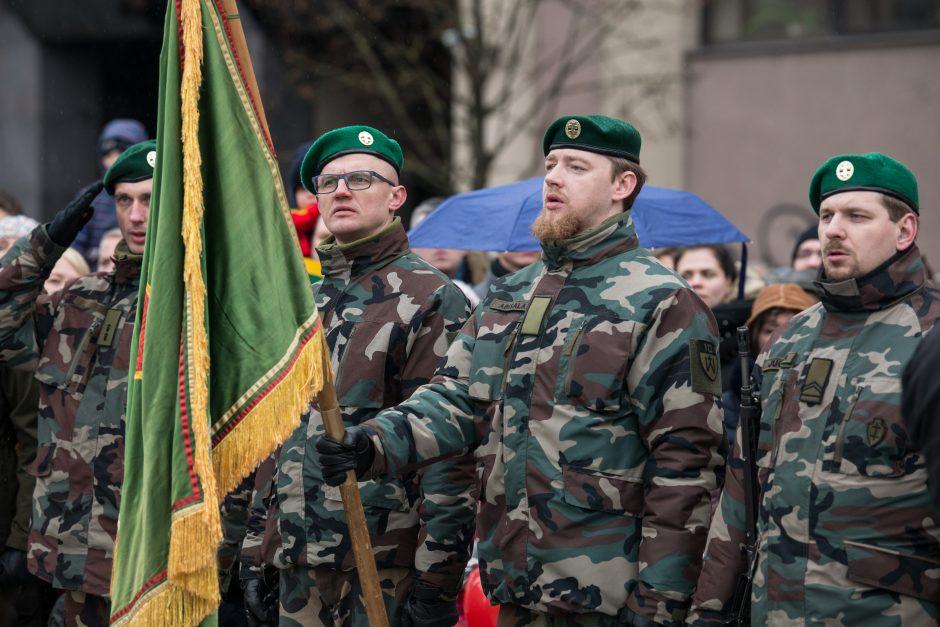 Vėliavų pakėlimo ceremonija Kovo 11-osios proga