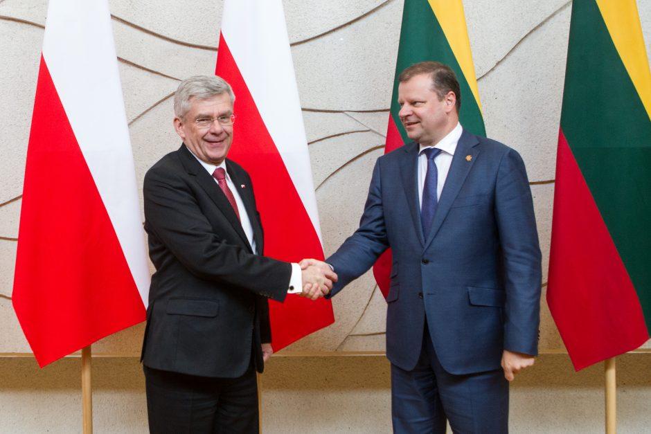 Premjeras susitiko su Lenkijos Senato pirmininku