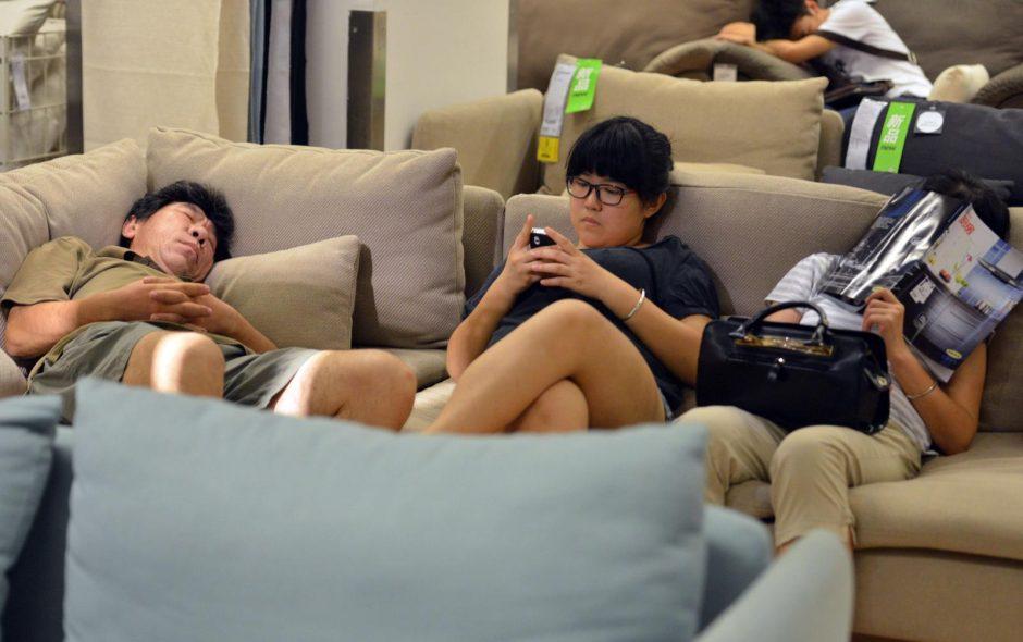 Šanchajuje rekordinių karščių banga nusinešė per 10 žmonių gyvybių
