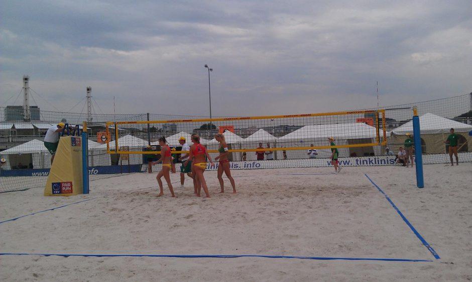 Vilniuje prasidėjo Europos U-20 paplūdimio tinklinio čempionatas