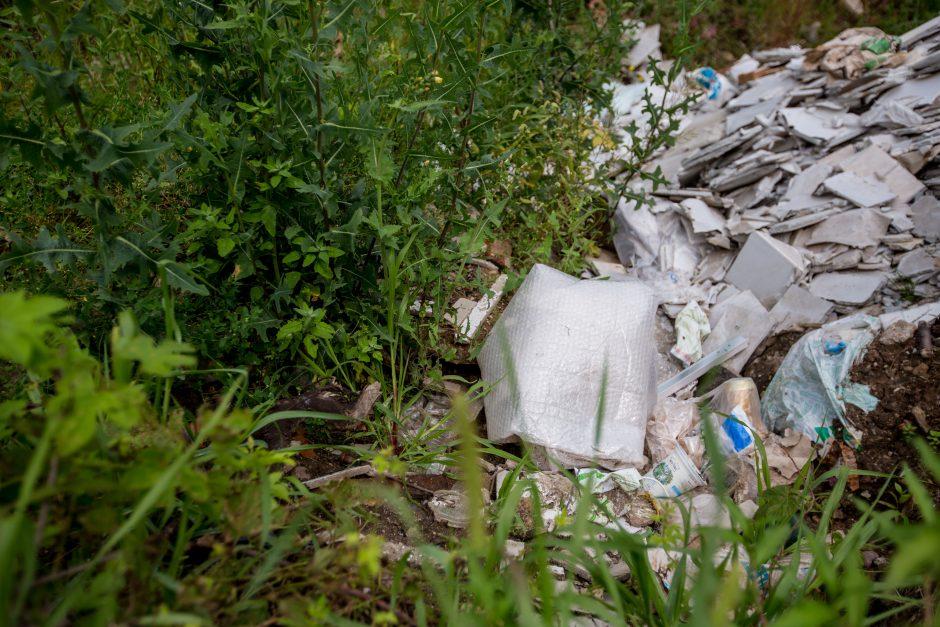 Kleboniškyje galioja savi įstatymai: atliekos pilamos kur papuola
