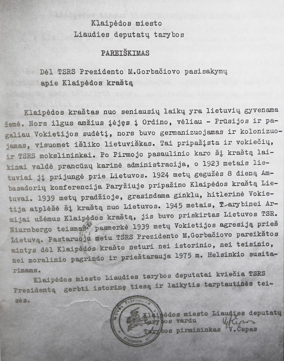 Žlugęs Klaipėdos užgrobimas