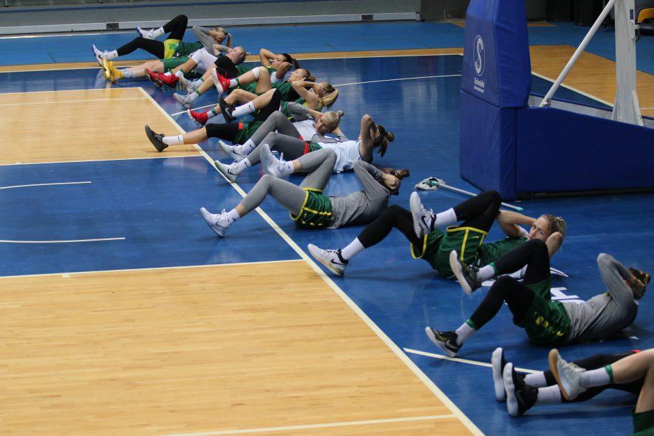 Lietuvos moterų krepšinio rinktinės treniruotė Maskvoje