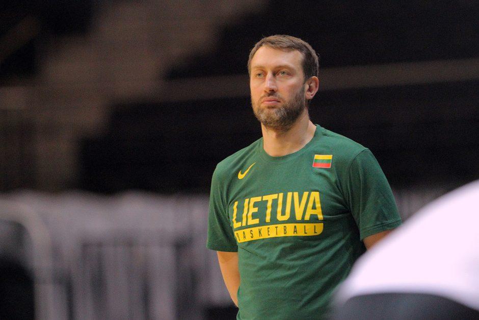 """Lietuvos krepšininkų treniruotė """"Žalgirio"""" arenoje"""