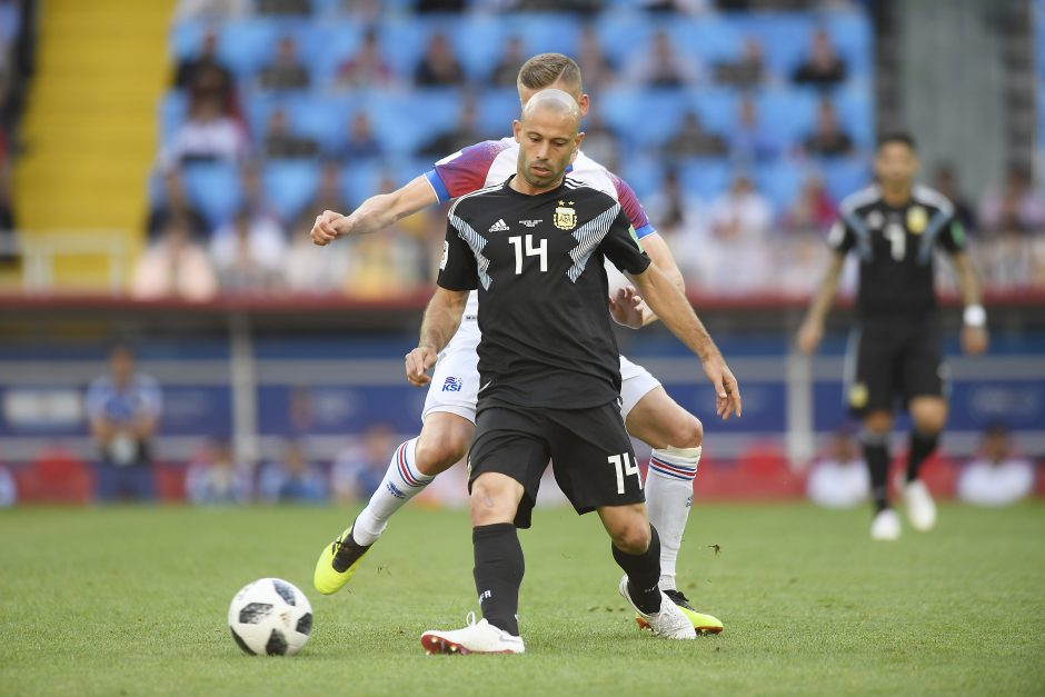 Debiutantai islandai iškovojo tašką rungtynėse su pasaulio vicečempione Argentina
