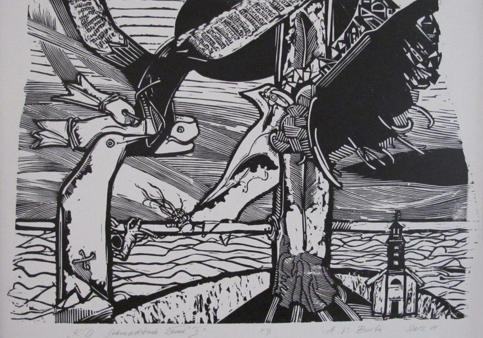 P.Domšaičio galerijoje Klaipėdoje – žymaus grafiko  parodos palydėtuvės