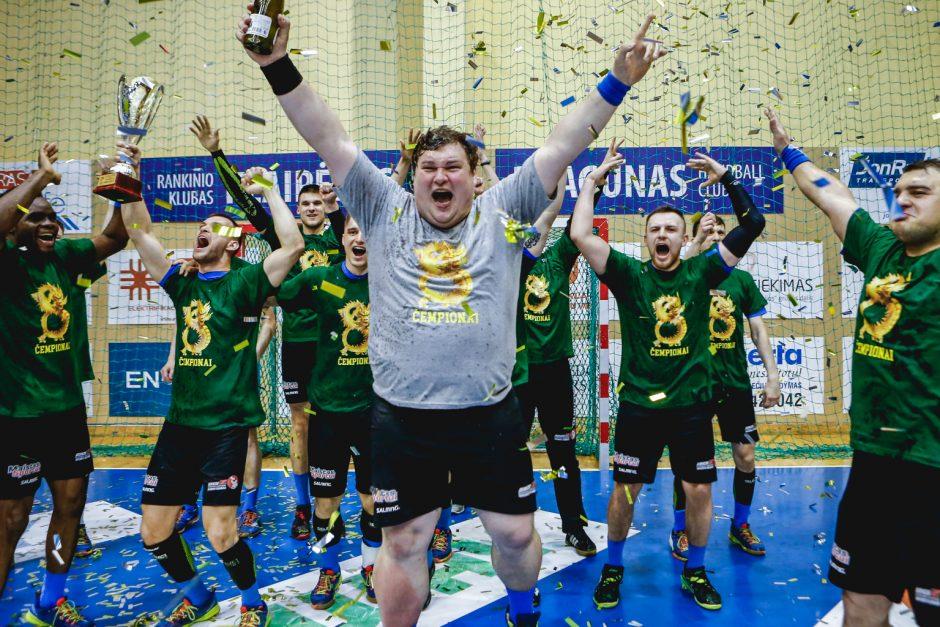 """Klaipėdos """"Dragūno"""" rankininkai apgynė Lietuvos čempionų titulą"""