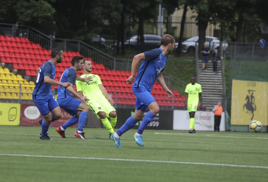 """""""Trakų"""" futbolininkai sužaidė lygiosiomis su Kazachstano klubu"""