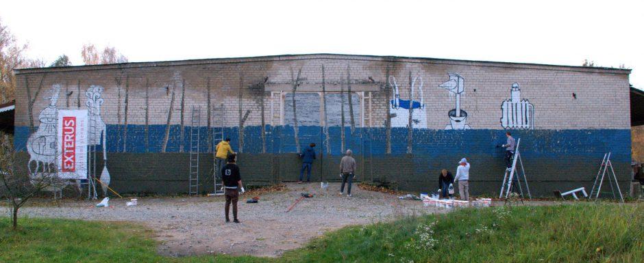 Ant nutrupėjusio, nugriauti paruošto pastato Nidoje – menininkų fantazijos vaisiai