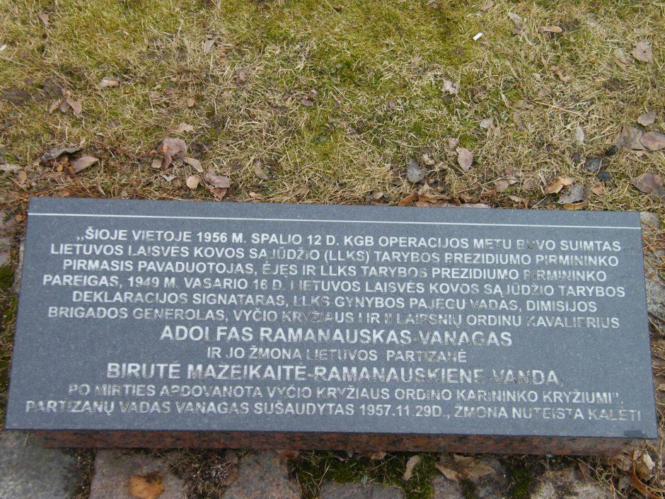 Kultūros vertybių registre – dvi su A. Ramanausku-Vanagu susijusios vietos
