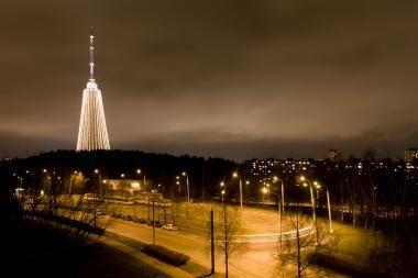 Įžiebta aukščiausia Kalėdų eglė - TV bokštas