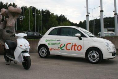 """""""eCito"""" automobilių parke - ir elektrinis motoroleris"""