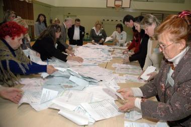 Balsai Klaipėdos vienmandatėse apygardose