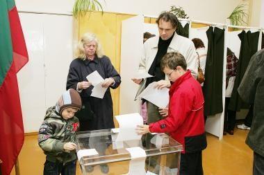 Balsai Kauno vienmandatėse apygardose