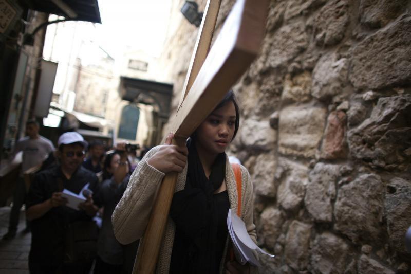 Didijį penktadienį krikščionys plūsta į Jeruzalę