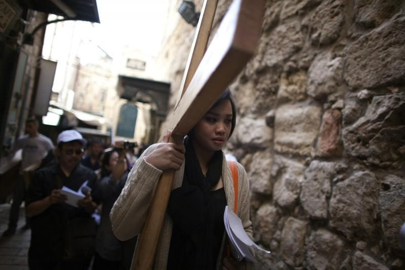 Didįjį šeštadienį krikščionys meldžiasi Jeruzalėje