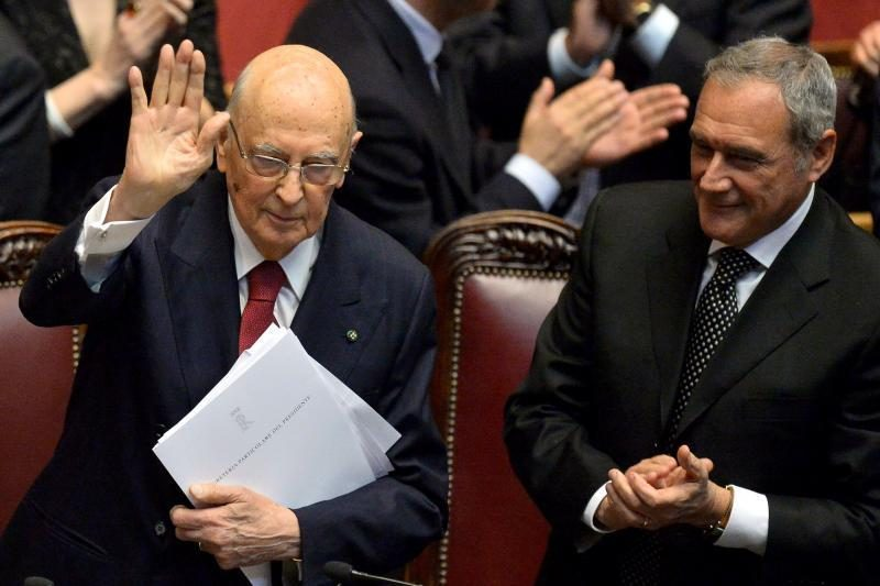 Italijoje prezidentu prisaikdintas G. Napolitano