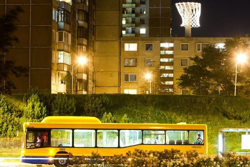 Naujųjų metų naktį autobusai važiuos dvigubai dažniau (schema)