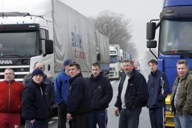 Augustavo gyventojai vėl blokuos sunkvežimių eismą