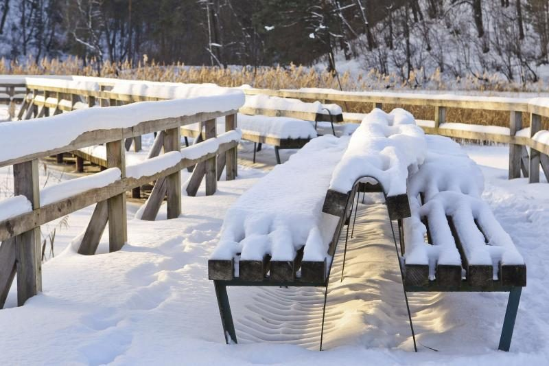 Sniegas tebedengia pusę JAV valstijų, D.Britanijoje šals iki gegužės