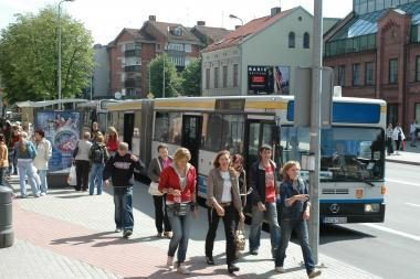 Klaipėdos autobusuose - užsimaskavę policininkai