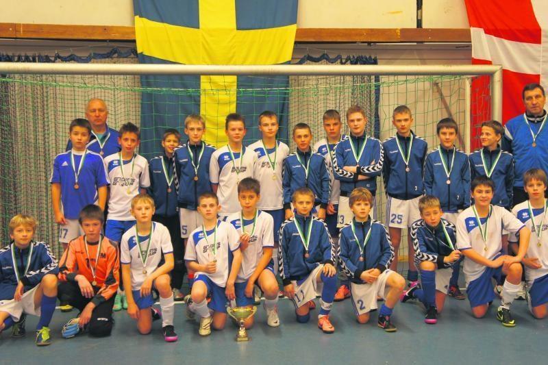 Jaunųjų Klaipėdos futbolininkų pergalės Švedijoje