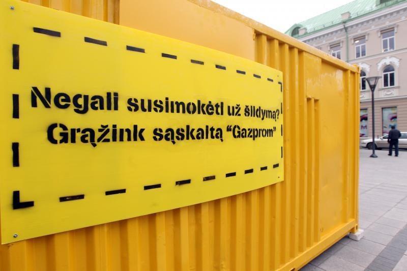 """Nesusimoki už šilumą? Tegul moka """"Gazprom"""""""