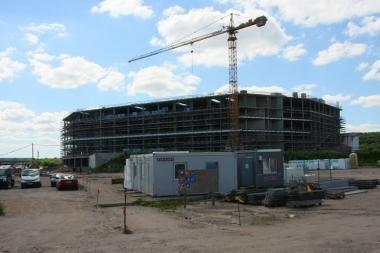 Žalgirio arenos statybvietėje bus dirbama dviem pamainomis