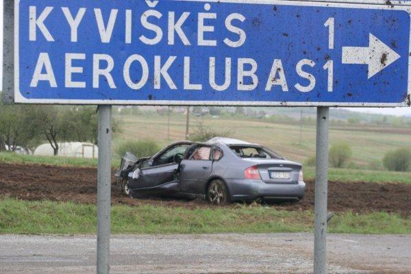 """Šalia Kyviškių – """"Subaru Legacy"""" skrydis"""