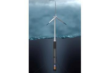 Kuriama pirmoji plūduriuojanti vėjo jėgainė