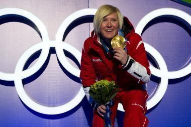 Pirmąjį kalnų slidinėjimo auksą Austrijai pelnė A.Fischbacher