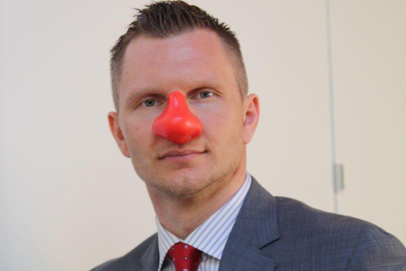 """Kalbos apie """"Raudonos nosies dieną"""" pasiekė ir R.Kaukėną"""