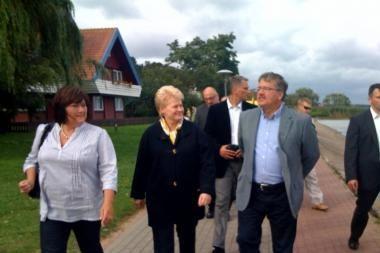 Nidoje poilsiaujantis Lenkijos prezidentas apžiūrėjo Mingę