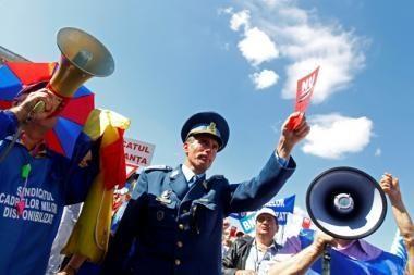 Rumunai protestuoja prieš taupymą