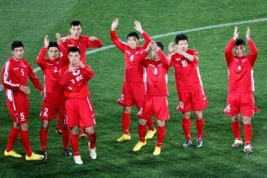 Kur prapuolė keturi Šiaurės Korėjos rinktinės futbolininkai?