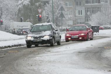 Eismo sąlygos Lietuvoje sudėtingos (atnaujinta)