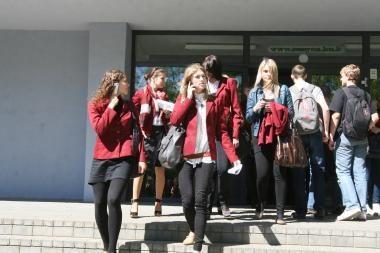 Per brandos egzaminų sesiją Klaipėdoje – pirmasis incidentas