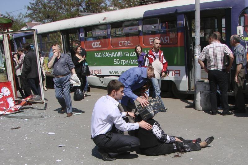 Dniepropetrovske per sprogimus gatvėse nukentėjusiųjų būklė stabili